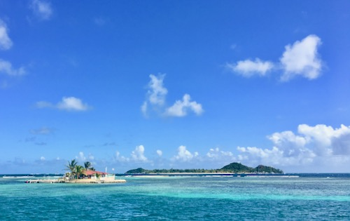 Happy Island in the Grenadines. One of our stops on this Grenadine Sailing Vacation