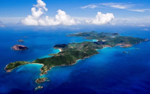 A stunning view of St Barths